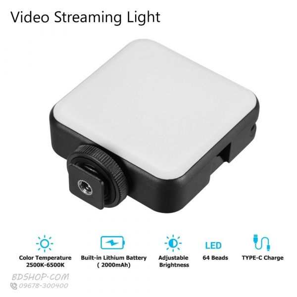 Vlog & Live Streaming Rechargeable LED Light (Odio W64) in BD at BDSHOP.COM