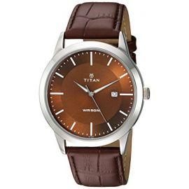 Titan Analog Brown Dial Men's Watch-1584SL04 107396