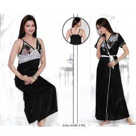 Black Color Women Sleepwear 106775