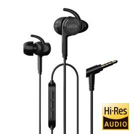 UiiSii BA-T7 Sport Hybrid Double Moving Headphones With Mic – Black 1007883