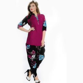 Stylish 2 piece half printed nightwear for women 106811