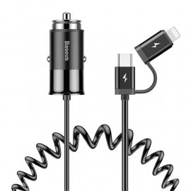 Baseus 2 in 1 USB Car Charging Adapter (CCALL-EL01) 106907