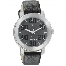 Black Dial leather watch by Fastrack (3121SL02)  105874