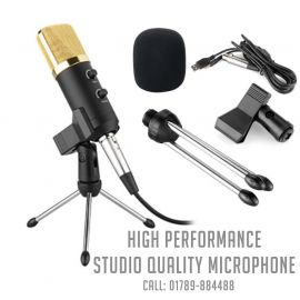 BM-100FX USB Powered Condenser Studio Recording Microphone with Noise Cancel and Echo Effect 107547