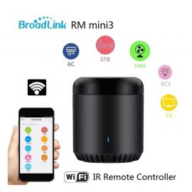 Broadlink RM Mini 3 Black Bean- Control All IR Devices with Smartphone, Universal IR Smart Remote Controller 106813A