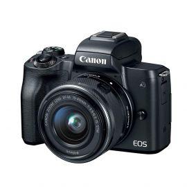 Canon EOS M50 Mirrorless Digital Camera, 24.1 MP, 4K, Auto focus 15-45mm STM Lens 107709