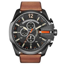 Diesel Mega Chief for Men - Analog Leather Band Watch - DZ4343 106493