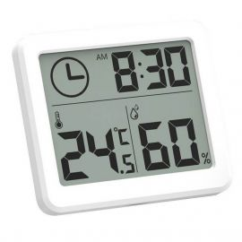 Digital Table Clock with Temperature & Humidity Sensor- Automatic Real-Time Monitoring with Large LCD Screen 1007437