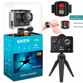 EKEN H6s 4K Action Cam With EIS Technology, 100ft Waterproof Cam With Remote  107477