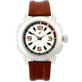 Fastrack Leather belt watch for men (NG3130SL01) 105876