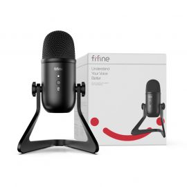 FIFINE K678 USB Microphone for Recording Streaming on PC and Mac, Gaming Mic With Headphone Output & Volume Control, Mic Gain Control, Mute Button for Vocal, YouTube 1007797