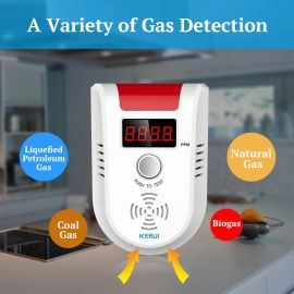 GAS Detector Alarm with Wireless Digital LED Display (KERUI GD13 ) 1007383