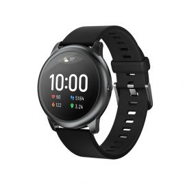 Haylou Solar LS05 1.28 inch TFT Touch Screen Smartwatch IP68 Waterproof with Heart Rate Monitor Global Version From Xiaomi Youpin - Black (Global Version) 1007954