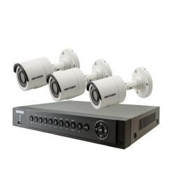Hikvision CCTV Camera Package 3 Pcs  - White 106553