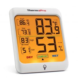 Digital Humidity & Temperature Monitor with Touchscreen Backlight- (ThermoPro TP53 ) 1007438