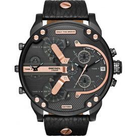 Black Dial Leather Band Chronograph Diesel Watch - DZ7350 106495