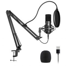 MAONO AU-A04 USB Microphone Combo Setup, Plug & Play USB Cardioid Podcast Condenser Microphone with Professional Sound Chipset for PC Karaoke, YouTube, Gaming Recording 1007358