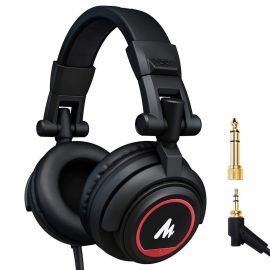Maono AU-MH501 Professional Studio Monitor Headphone, Over Ear with 50mm Driver for Gaming, DJ, Studio and Microphone Recording 1007983