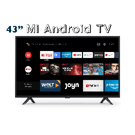 "Mi 43"" 4K UHD Android Smart TV 4S with Netflix (Global Version, EU-L43M5-5ASP) 1007499"