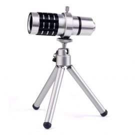 Mobile Camera Lens- 12x Zoom With Adjustable Tripod  106136