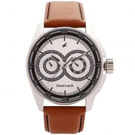 Multi Functional leather watch by Fastrack (NF3089SL07)  105873