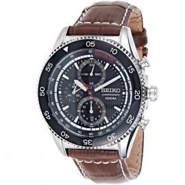 Seiko Chronograph Gents Leather Band Watch - SNDG57P2 107283