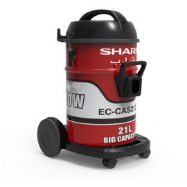 Sharp 21 Liters, 2100 Watts Drum Vacuum Cleaner, Red , EC-CAS2121 107257