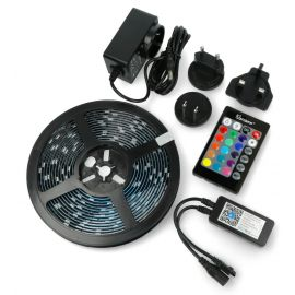 WiFi RGB LED Strip Light- Work with Alexa, Google Home, Dance with Music (5M, Sonoff L1) 1007956