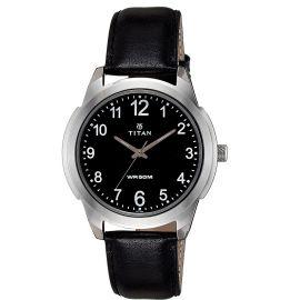 Titan Analog Black Dial Men's Watch - 1585SL08 107314