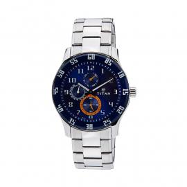 Titan Octane Analog Blue Dial Men's Watch - 1632SM03 107400