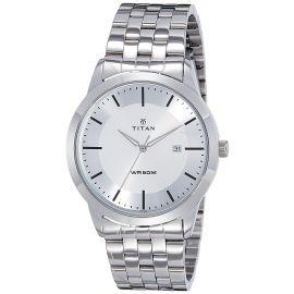 Titan Analog Silver Dial Men's Watch-1584SM03 107401