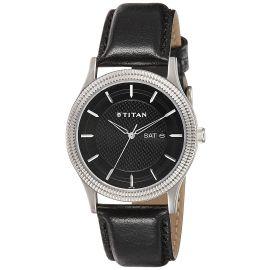 Titan Ottoman Analog Black Dial Men's Watch - 1650SL01 107397