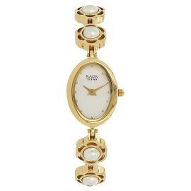 Titan Raga Aurora Analog White Dial Women's Watch-2511YM08 107529