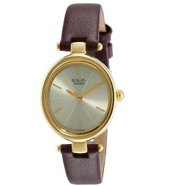 Titan Raga Viva Analog Champagne Dial Women's Watch-2579YL01 107542