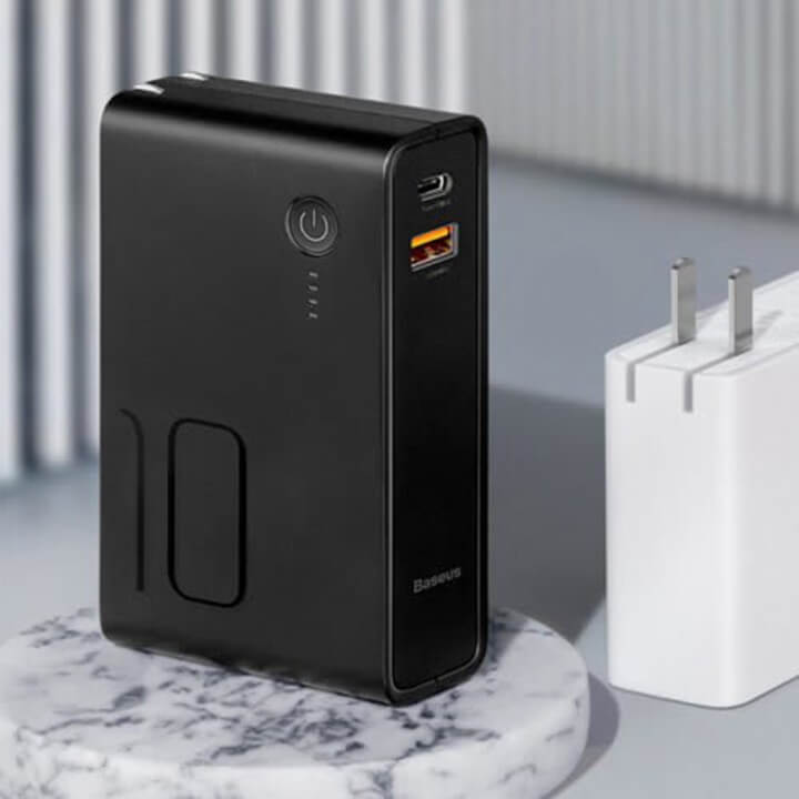 Baseus PPNLDT909-01 Power Station Travel Charger & Powerbank 2in1 10000mAh 3