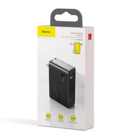 Baseus PPNLDT909-01 Power Station Travel Charger & Powerbank 2in1 10000mAh 4
